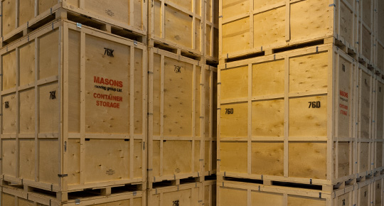 Container Storage at Masons Removals Cardiff