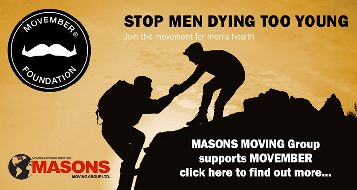 Masons Removals Cardiff and Movember